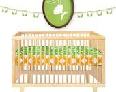 Crib Sheet , Bumper Free , Baby Bedding , Modern Baby Crib Set , Cotton , Bumperless , Unisex ,  Sheet Leap Frog