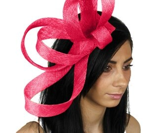 Kate - Fuchsia Pink Fascinator Hat for Weddings, Races, and Special Events With Headband (in 40 colours)