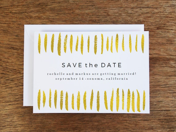 printable save the date card gold strokes save the date