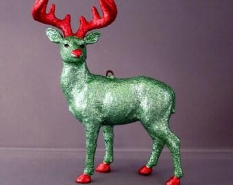Glitter Menagerie Buck Ornament