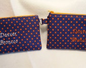 Cosmetic/Pencil/Golf Pouch, Denver Broncos, NFL Pencil Case, NFL Broncos, Zipper Pouch, Toiletry Storage, Gift Idea, Cell Phone Case