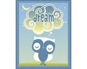 Dream Owl Boys Print