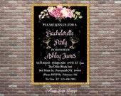 Bachelorette Party Invitation,Bachelorette Invite, DIY Printable  Invitation, DIGITAL Party Invitation, Personalized Bachelorette Invite