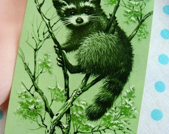 Vintage Kitsch Adorable Raccoon Vintage Playing Cards