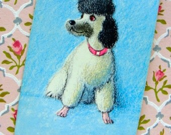 Vintage Black and White French Poodle Vanity Art Deco Playing Cards