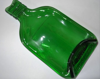 Recycled Slumped 35 Cl Gordons Gin Bottle Tray/Dish/Spoon Rest