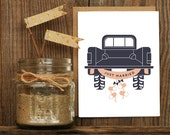 Just Married Letterpressed Greeting Card