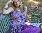 Lilac Garden A-Symetrical Tunic
