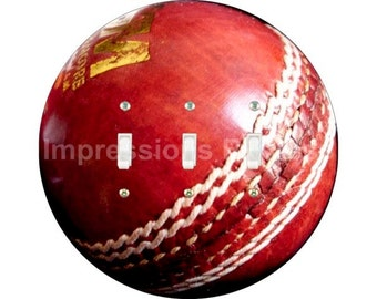 Cricket Ball Triple Toggle Switch Plate Cover