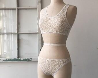 Bridal Lingerie Sneak Peek Ivory Lace Honeymoon Panties