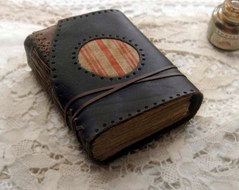 The Seafarer - Rustic Leather Journal, Over 330 Antiqued Pages, Vintage French Linen, OOAK