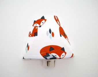 Fox Night Light - Woodland Nursery Night Light - Foxes Nursery Night Light - Gender Neutral Nightlight - Woodland Night Lite - Gift For Baby