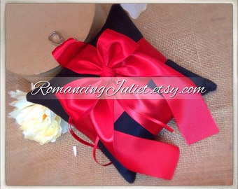 Pet Ring Bearer Pillow...Made in your custom wedding colors...shown in black/red