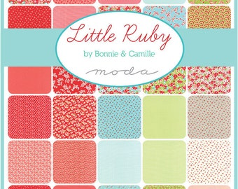 CHRISTMAS IN JULY Sale - Half Yard Bundle (40) - Little Ruby - Bonnie and Camille for Moda Fabrics