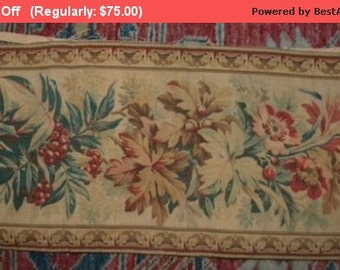 Surprise SALE - Antique French Tapestry Border 19thc