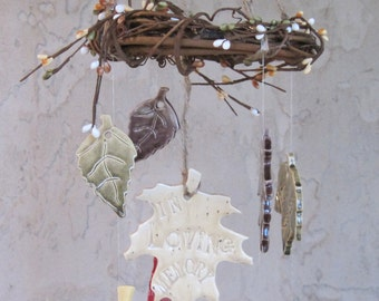 Personalized  For the Smaller Family Tree Wind Chime Windchimes