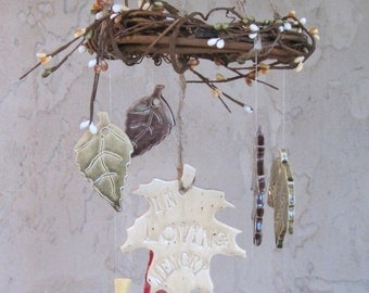Personalized Small Family Tree Wind Chime Windchimes