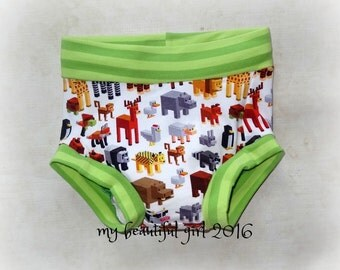 Block Animals... GROW with ME Training Pants - You Choose Size