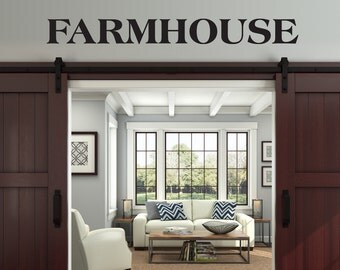 Farmhouse wall decor, farmhouse vinyl decal, diy farm sign, rustic decal for living room, kitchen or porch