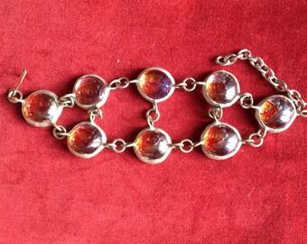 Vintage orange glass bracelet
