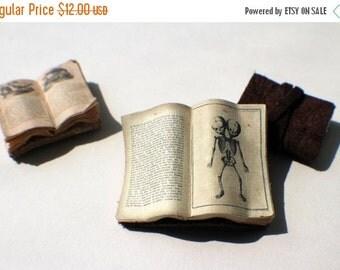 ON SALE Miniature Open Book --- Two-Headed Fetus