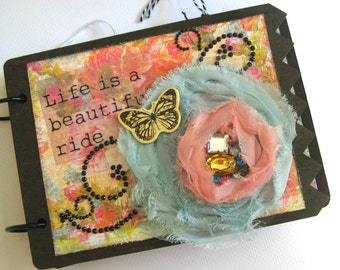 Life is a Beautiful Ride- Premade Scrapbook, Mini Album