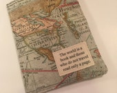 Family Passport Wallet, The world is a book or we haven't been everywhere, Passport Cover for 4 or 6 Travel Wallet