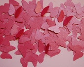 Metallic Raspberry Pink Vellum Butterfly Cut Outs Confetti -- 100 butterflies -- Ready to Ship