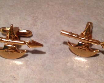 Arrow, Spear Goldtone Cuff Links