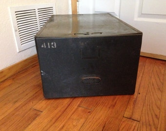 Classic Army Green Large File Cabinet Drawer Storage Box