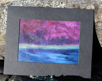 Mini Oil Painting, OOAK, Abstract Landscape