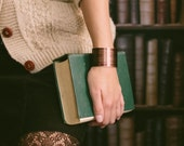 Charlotte Bronte's Jane Eyre - Literary Book Pages Brass Cuff Bracelet - Valentines Day Wife Gifts Under 40