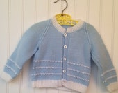 12 month light blue knit sweater