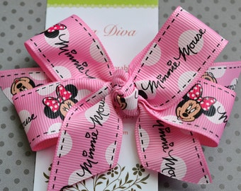 Pink Dot Mouse Classic Diva Bow