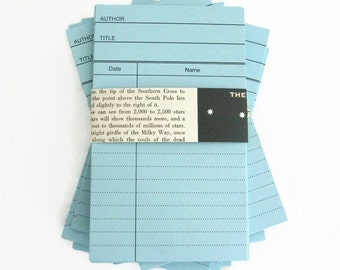BLUE Library Book Cards, Blank Library Cards, Journal Spot, Scrapbook Daily Planner Cards, Wedding Invitations, Birthday Party Invite
