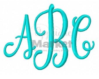 Machine Embroidery Design Applique Caroline Monogram INSTANT DOWNLOAD
