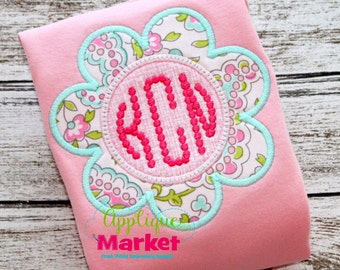 Machine Embroidery Design Applique Flower Frame INSTANT DOWNLOAD
