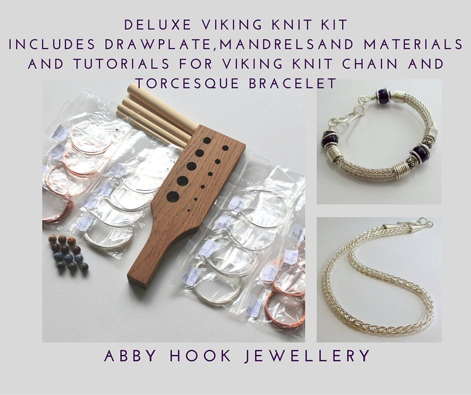 Viking Knitting Tutorial Pdf : Deluxe viking knit kit includes drawplate mandrels and