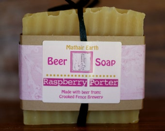 Pale Ale Soap. Raspberry Porter Beer Soap. Idaho Made. Cold Process Soap. Handmade Soap. Natural Soap. Gift Soap.