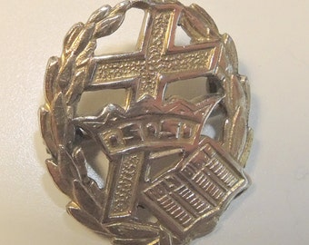 Crown And Cross Sunday School Pin