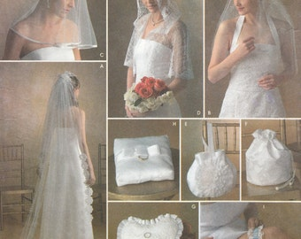 Simplicity Sewing Pattern 4216 Miss Bridal accessories and capelet pattern in three sizes
