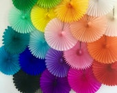 TISSUE PAPER FAN / wedding decorations / birthday party decor / nursery decorations / backdrop decorations / photo prop / decorative fans