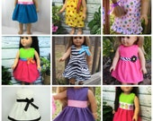 """18"""" Girl Doll Clothes, Combo Doll Clothes Pack, Pick 5 Doll Dresses, American made Girl Doll Clothes, girl christmas gift,girl birthday gift"""