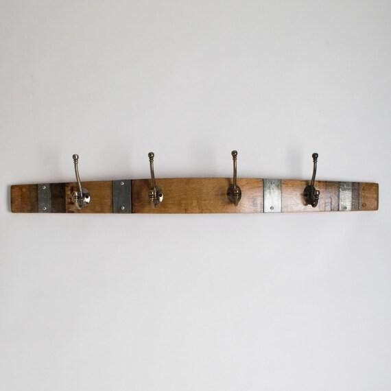Banded Classic Brass Wine Barrel Coat Rack