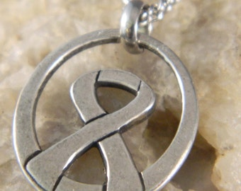 Courage Breast Cancer Ribbon Necklace