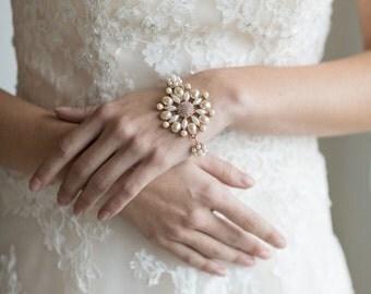 Wedding Bracelet, Pearl Bracelet, Bridal Bracelet
