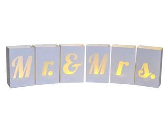 Mr. & Mrs. Paper Luminaries
