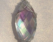 Glass Marquise Pendant