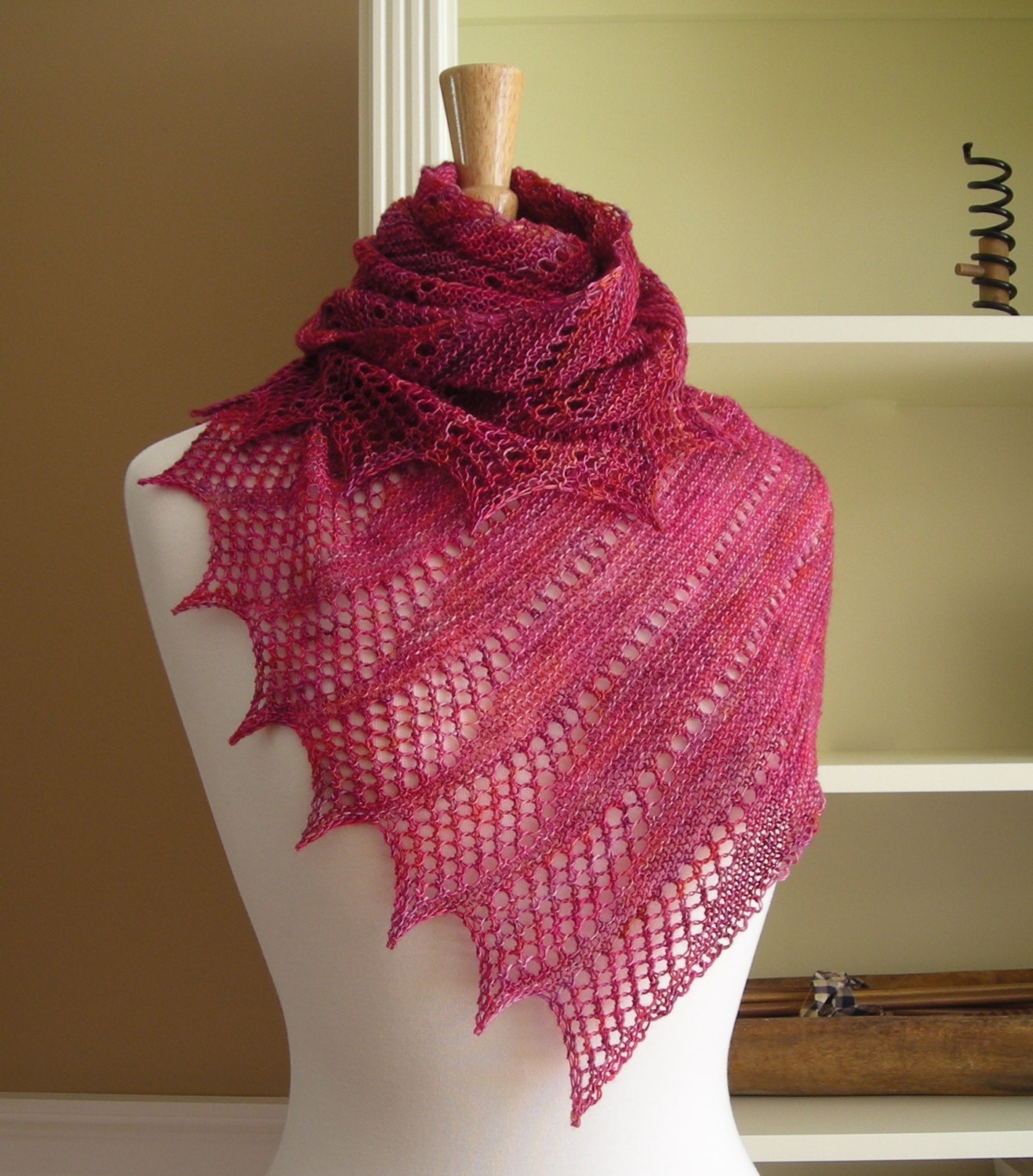 Lace shawl knitting pattern pdf mistral shawl asymetric this is a digital file bankloansurffo Image collections