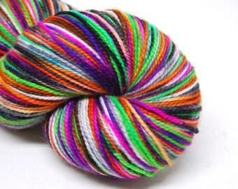 "Acoustic Sock Yarn - ""Witch, Please!"" - Handpainted Superwash Merino - 400 Yards"